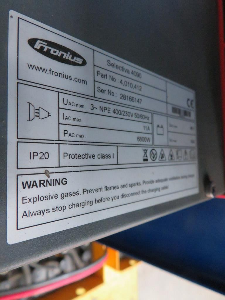 Lot 45 - FRONIUS SELECTIVA 4090 8KW - 48V BATTERY CHARGER; SERIAL NO 28166147