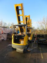 Lot 8 - 3 X JUNGHEINRICH MODEL ETV 320 2000KG ELECTRIC REACH TRUCKS