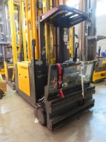 Lot 23 - 2007 JUNGHEINRICH MODEL EKX 515 1500KG ELECTRIC HIGH RACK STACKER TRUCK - NO BATTERY