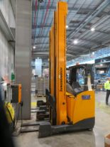 Lot 2 - 2008 JUNGHEINRICH MODEL ETV 320 2000KG ELECTRIC REACH TRUCK
