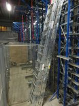 Lot 501 - 2 X KRAUSE ALUMINIUM DOUBLE EXTENDING LADDERS AND