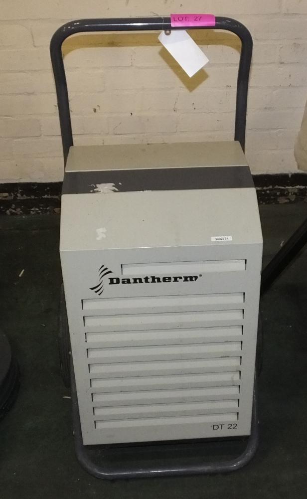 Lot 27 - Dantherm DT22 Bulding Dehumidfier