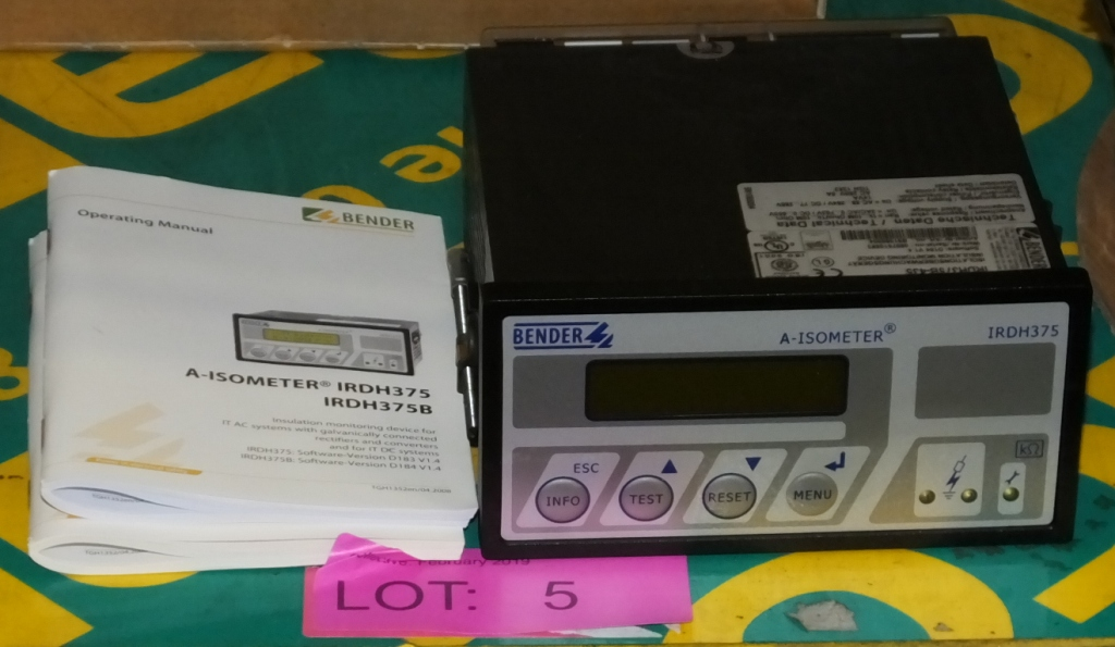 Lot 5 - Bender IRDH3578-435 LIM A-Isometer Insulation Monitor