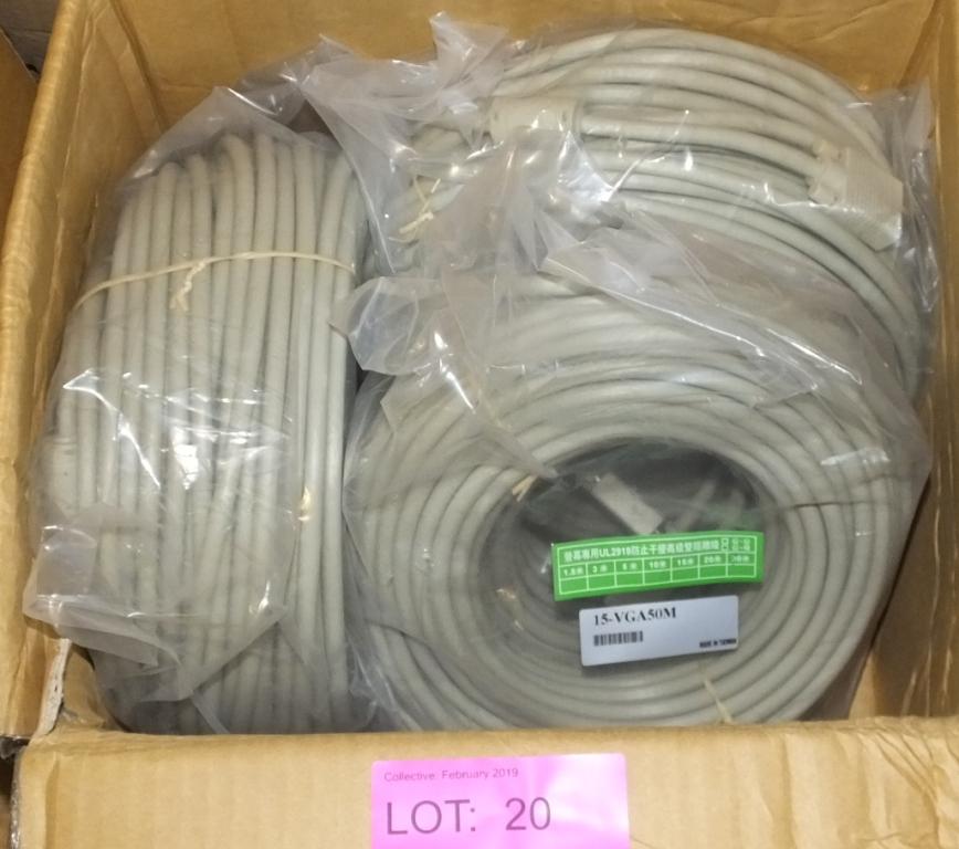 Lot 20 - 3x 50M VGA Cables - 15-VGA50M