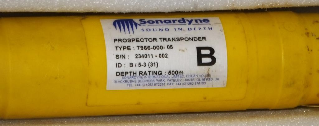 Lot 24 - Ex-MoD Sonardyne ISBL System - 1x USBL Transceiver type 8024-000-01 SN 233933-001, 4x Pros
