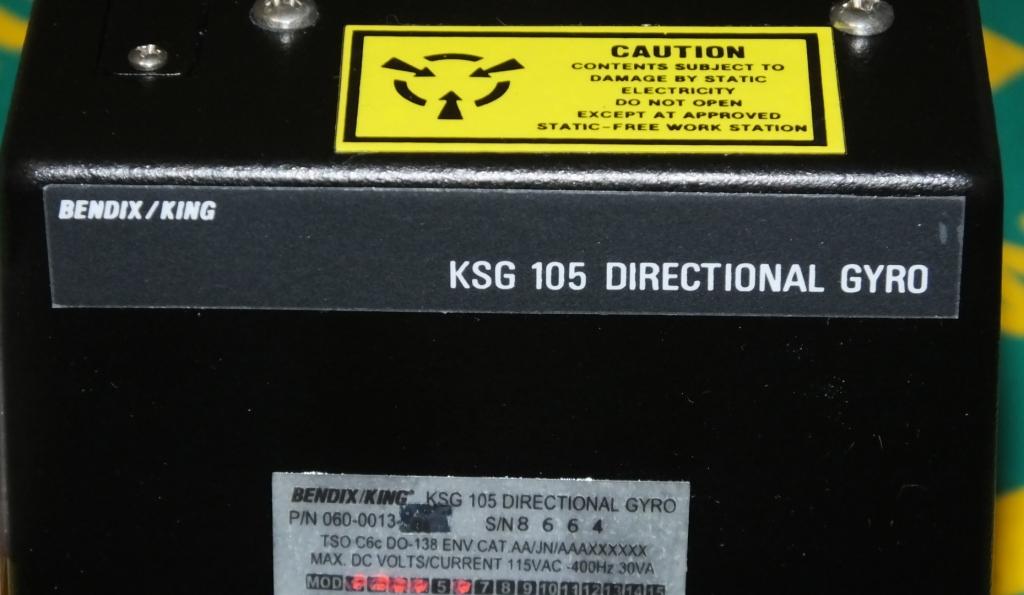 Lot 13 - Bendix / King KSG 105 Directional Aviation Gyroscope P/N 060-0013-01
