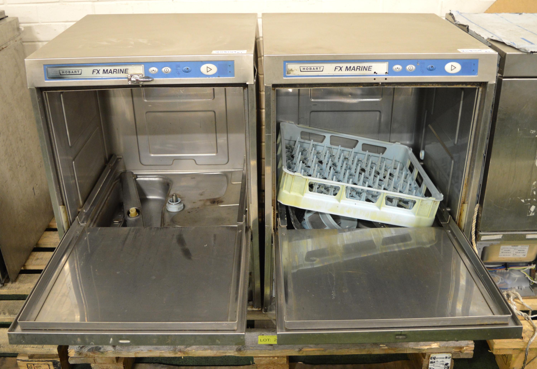 Lot 26 - 2x Hobart FX Marine Dishwasher 440v 3ph.