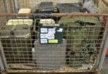 Lot 39 - 3x Paraffin Heater. 3x Waste Bin Lids. 4x Norwegian Food Container. Lightweight Tarpaulin/