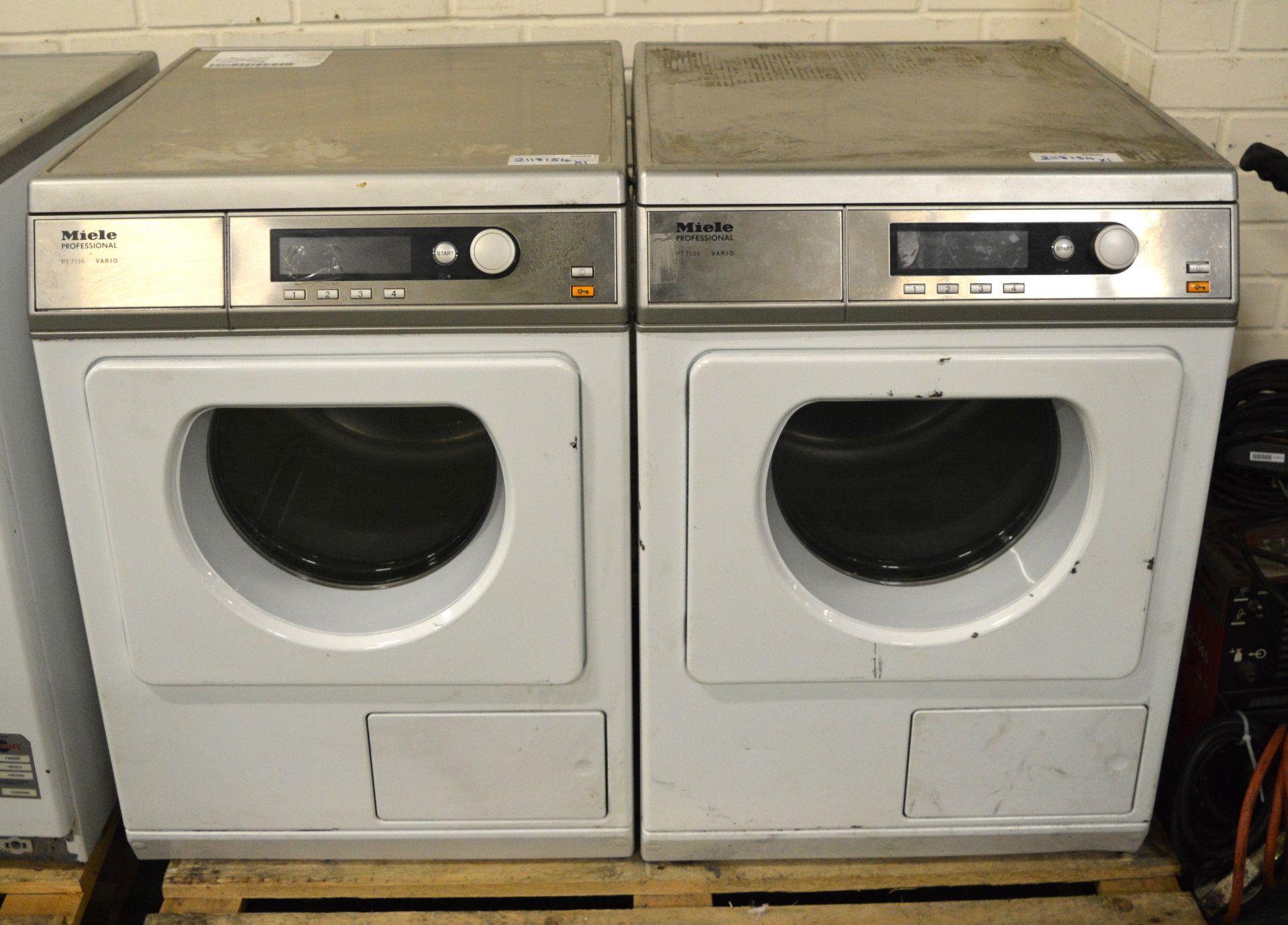 Lot 30 - 2x Miele Professional PT 7136 Virio Tumble Dryer,