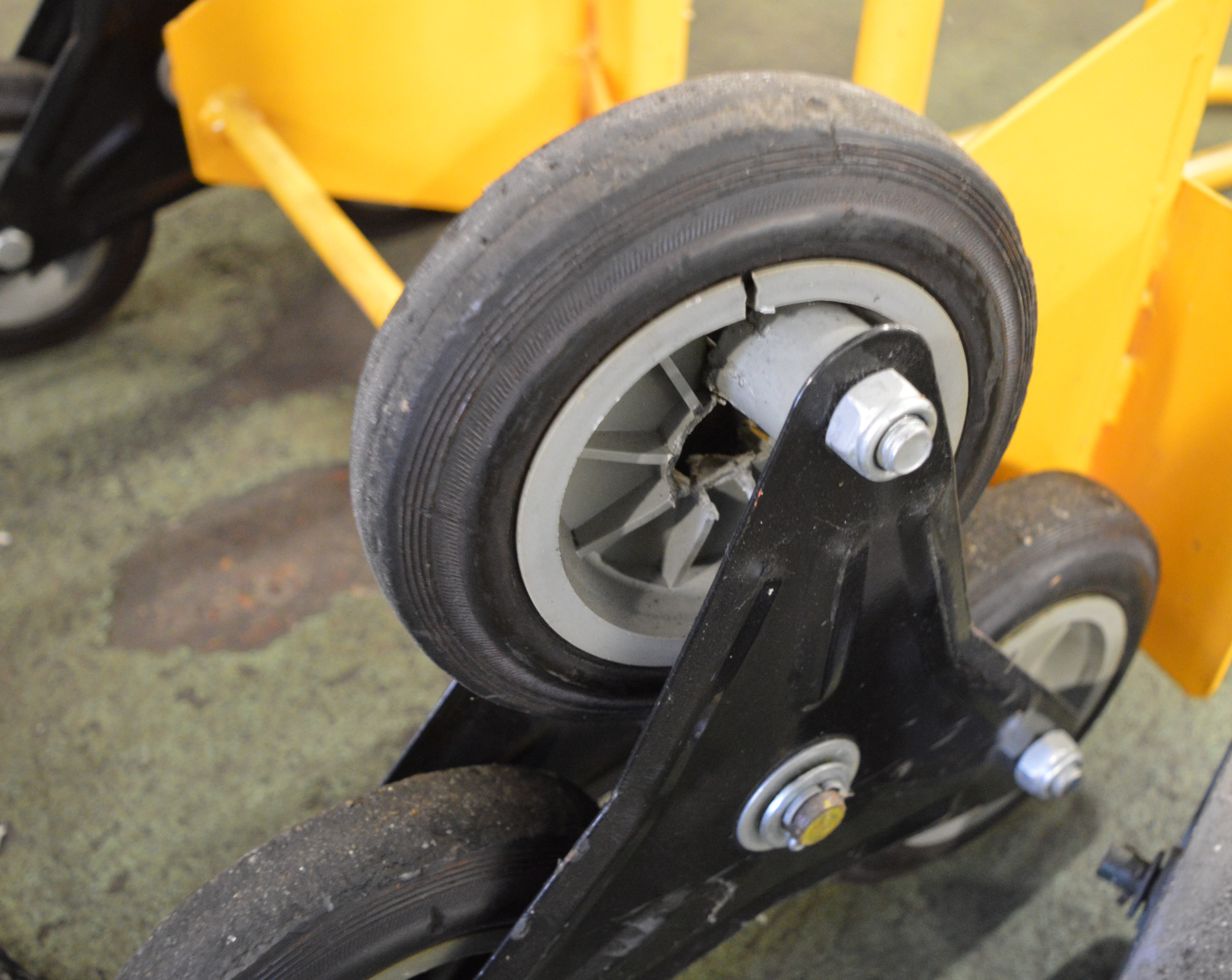Lot 42 - Stair Climbing Trolley - Broken wheel. Cable Trolley.