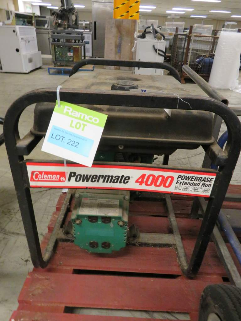 COLEMAN POWERMATE 4000 EXTENDED RUN PETROL GENERATOR