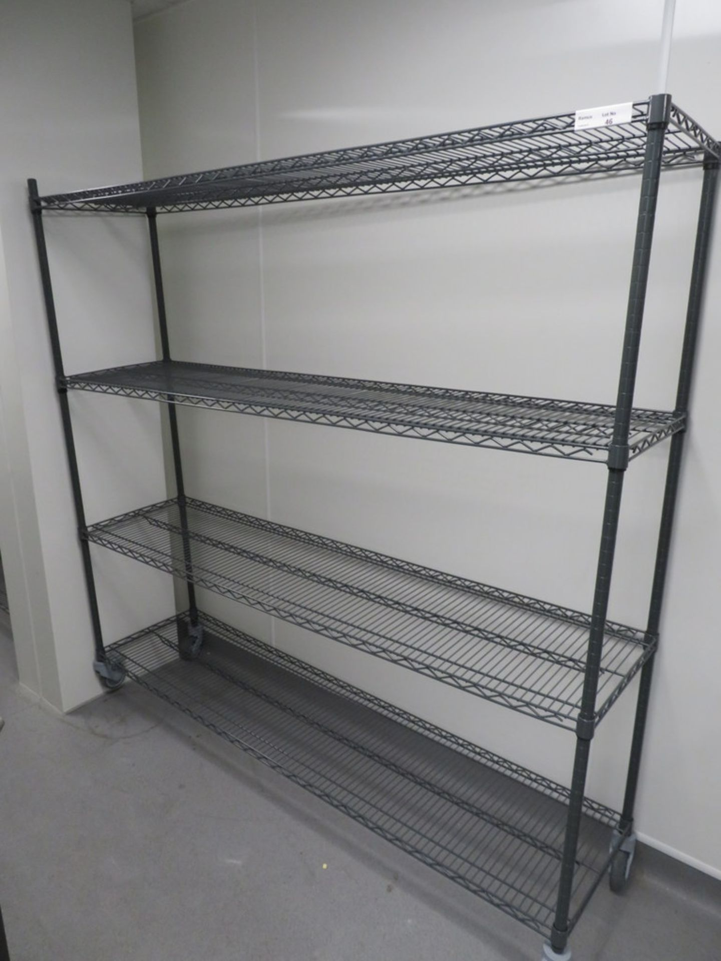 Lot 46 - FOUR TIER GREY COATED MESH KITCHEN STORAGE RACK