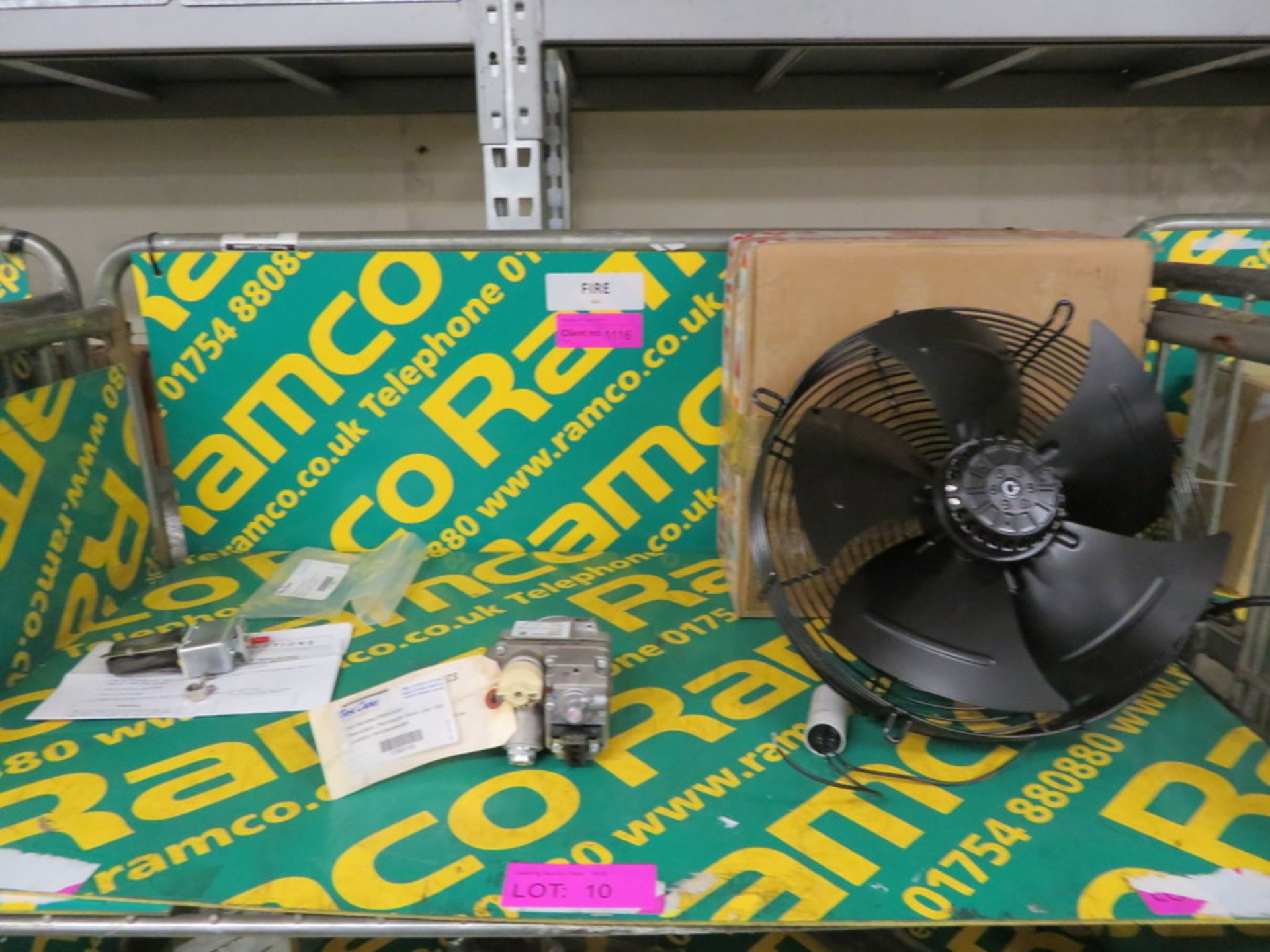 Lot 10 - AXIAL FAN UNIT, 24V THERMOPILE VALVE AND HI LIMIT THERMOSTAT