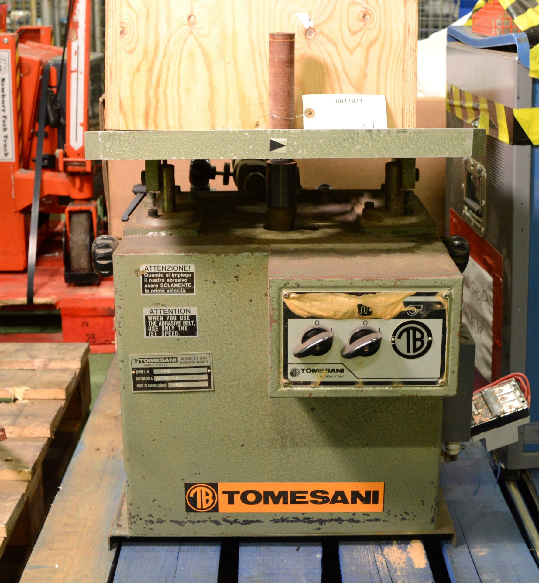 Lot 1390 - Tomesani 660 Spindle Sander - Bench Mounted.