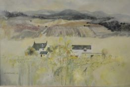Wilma Dunbar (Scottish, b. 1946), Cullerlie, signed lower left and dated (19)86, oil on canvas,
