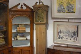 A George III Scottish oak longcase clock, the dial signed Thos. Hall, Canongate, Edinburgh in the