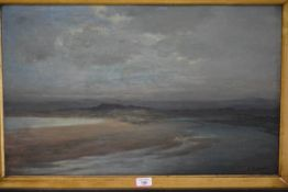 Assur Michaelson RBA (b. 1870), Shoreline, Evening, signed lower and dated 1921, oil on canvas,