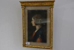Samuel Arlent Edwards after Leonardo de Vinci, mezzotint, signed in pencil, in a gilt-composition