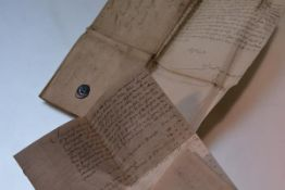 A 17thc autographed letter signed by John Trotter to The Right Worthy Sir Patrick Hume of Polwart,