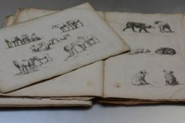 Robert Hills (1769-1844), a large group of etchings, studies of horses and dogs, in folio form,