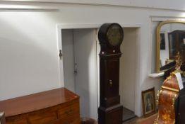 A Scottish mahogany drumhead longcase clock, Robert Bryson of Edinburgh, the silvered brass dial