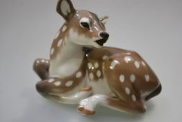 A Royal Copenhagen porcelain model of a faun, model no. 2609. Height 12.5cm