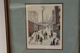 •After Laurence Stephen Lowry R.A. (1887-1976), A Street Scene Near a Factory, colour