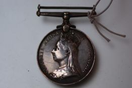 An Afghanistan medal 1878-80, to 163 Pte. A. Grogan, 2/15th Foot, replacement suspender.