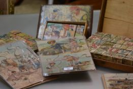 A collection of three children's jig-saw puzzles c. 1900, complete but with losses; together with