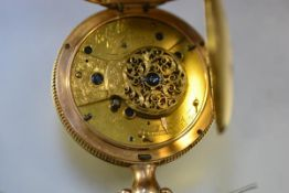 A George III 18ct gold open face fusee pocket watch, the movement and cover signed Robt. Molyneux,