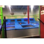 Lot 2 - Complete Trampoline Park Play Center COMES WITH 40 ft sea can storage container