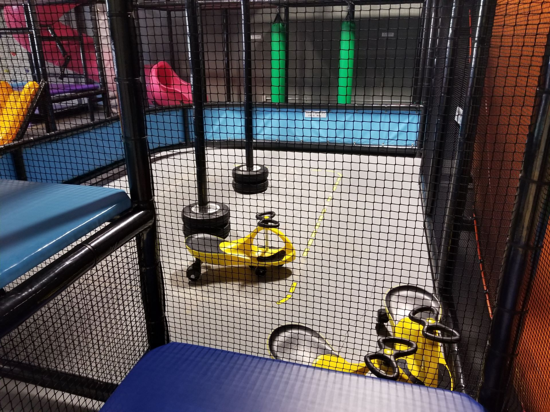 Lot 1 - Kids Play Center with Climbing Wall, Slides, race track Fully Dismantled