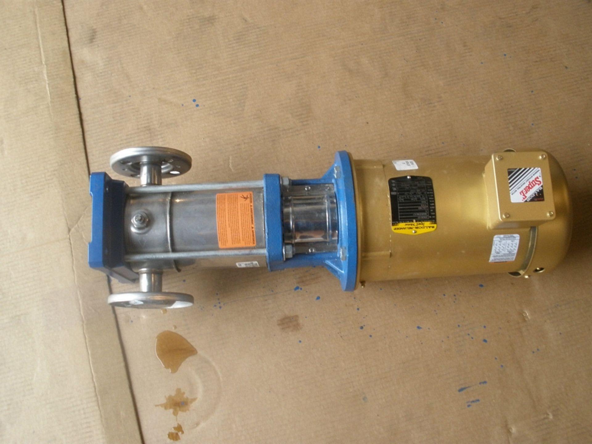 Lot 44 - Gaulds Pumps, ITT G&L Series SSV Catalog # 2SVB1H9E0, 3HP Baldor Motor 230/460v 3PH 7/35 Amps RPM