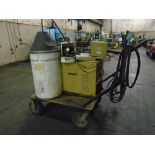Lot 30 - Hobart Arc-Master 351 Welder, Wire Mig 2410, Cooling, Cart, Cables Teel Water Cooling Unit Cart