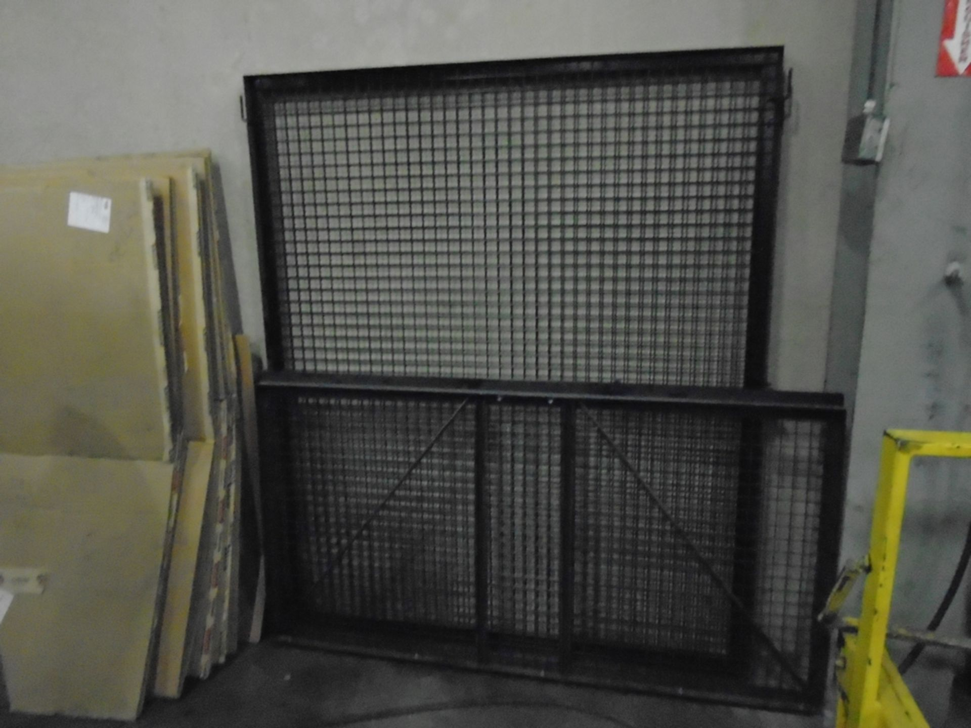Lot 122A - Tool Crib Cage Steel Double 5' W x 6' H Gate With One 3' W x 6' H Door New