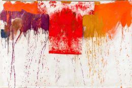 Hermann Nitsch (hs art)Wien 1938 *Ohne Titel (Schüttbild mit Malhemd) / untitledÖl und Acryl auf