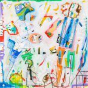 anselm glück (hs art)Linz 1950 *Aufatmen in OstendeAcryl auf Leinwand / acrylic on canvas100 x 100