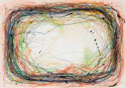Drago J. PrelogCilli 1939 *Nest?Mischtechnik auf Papier / mixed media on paper59 x 84 cm1978rechts