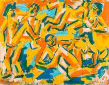 Otto Mühl (hs art)Grodnau 1925 - 2013 MoncarapachoDrei PärchenÖl auf Leinwand / oil on canvas139,5 x