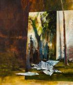 Martin Schnur Vorau 1964 * blanko #2 Öl auf Leinwand / oil on canvas 70 x 60 cm 2014 rückseitig