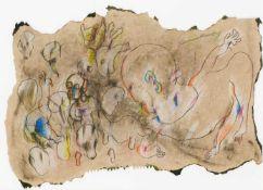 Oswald OberhuberMeran 1931 *Ohne Titel / untitledKohle, Pastell und Tempera auf Packpapier /