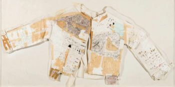 Tone Fink (hs art)Schwarzenberg 1944 *PapierhemdBaumwollhemd, Papier, Buntstift,aquarelliert,