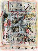 Hans StaudacherSt. Urban 1923 *Eins - Zwei - Drei - Los - ZielMischtechnik auf Papier / mixed