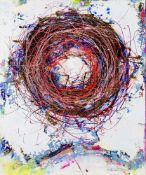 Drago J. Prelog (hs art)Cilli 1939 *KopfnestAcryl auf Leinwand / acrylic on canvas120 x 100