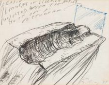 Alfons SchillingBasel 1934 - 2013 WienNEGATIV (aus der Serie Schlafender transparenter Künstler;