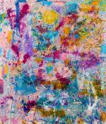 Nikolaus Moser (hs art)Spittal am Millstättersee 1956 *Ohne Titel / untitledÖl und Collage auf