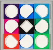 Victor VasarelyPecs 1908 - 1997 ParisTOPAZE BLANCHE négatifHolz bemalt / painted wood36 x 36 x 4
