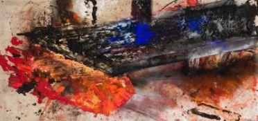 Maria Moser (hs art)Frankenburg 1948 *ReissendÖl auf Leinwand / oil on canvas95 x 200 cm2001rechts