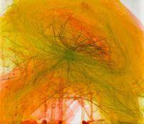 Arnulf RainerBaden 1929 *Ohne Titel / untitledÖlkreide und Leimfarbe auf Papier auf Holz / oil