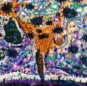 Gunter Damisch (hs art)Steyr 1958 - 2016 WienSteher in der WeltendichteÖl auf Leinwand / oil on